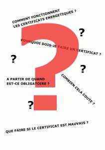 Questions fréquemment posées sur les certificats peb